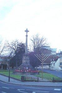 cross and menorah in Oxford