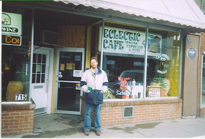 Dave Maciewski at Eclectic Cafe, Brainerd, Minnesota