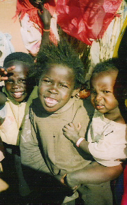 Children at Dereig Camp, Nyala, Darfur (Scott Schaeffer-Duffy Photo). December 2004.