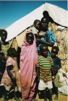 Mother of 7 in Kalma IDP Camp
