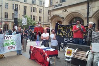 Hiroshima Day action in Oxford