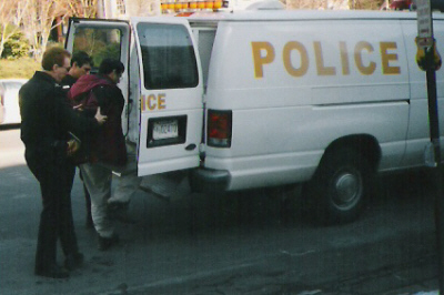 Ken Hannaford-Ricardi arrested in Washington DC, Feb 2, 2005