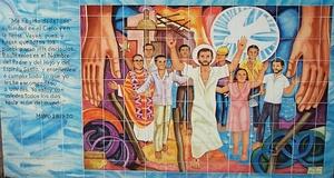 a photograph taken at the Misión Nuestra Señora Reina de los Ángeles