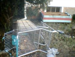 Shopping cart on Mason Court