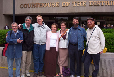 defendants rejoice at being free to go
