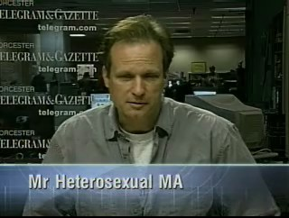 Rich Nangle is not Mr Hetero, but he plays him on TV